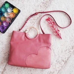 NWT LC Lauren Conrad O-Ring Heart Convertible bag
